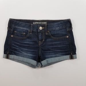 Express Low Rise Denim Shorts Size 0
